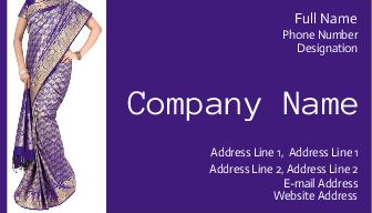 Print Online Saree Shop Business Cards | Printasia.in