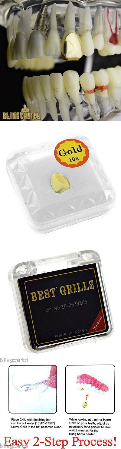 Grillz Dental Grills 152808: Real 10K Gold Tooth Single Cap Grillz Plain Canine Teeth New Grill W Mold Kit -> BUY IT NOW ONLY: $79.95 on eBay!