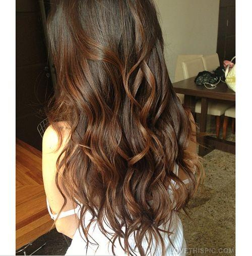 Long brown wavy hair cute hair beautiful girl pretty ...
