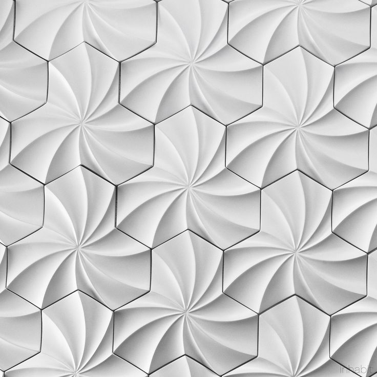 Kaleidoscope Cast Architectural Concrete Tile - White - Inhabit - Inhabit - 3--- $22/ sq foot can be grouted or not