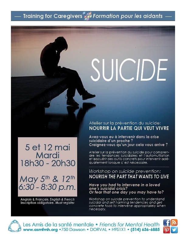 Training for Caregivers: Suicide, Nourish The Part That Wants To Live   http://www.asmfmh.org/conference-mental-health-understanding-the-grief/  #mentalhealth  #suicide