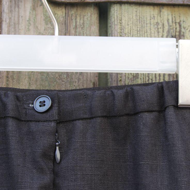linen skirt detail black fabric canvas