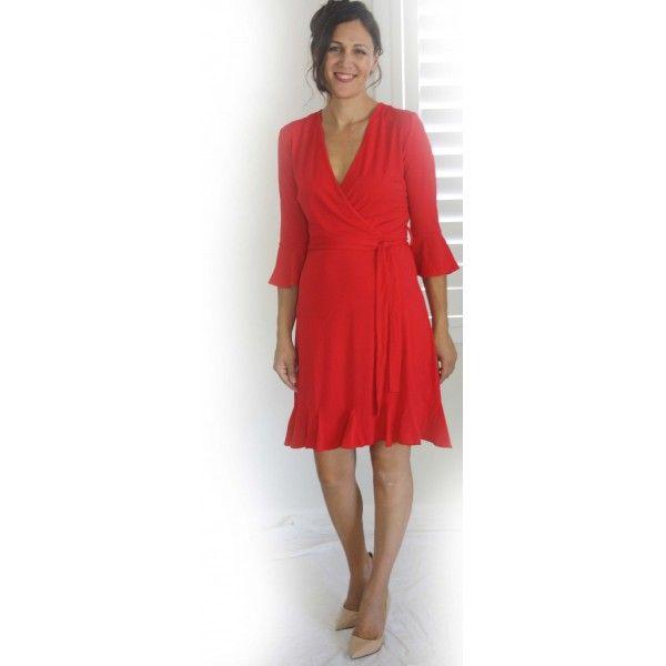 Henny Crossover Jersey Dress