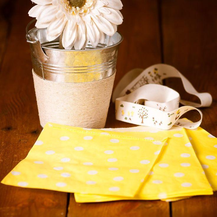 Bolsas Papel Topos Amarillas - CreativeBox