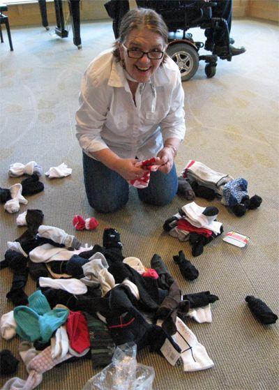 Counting Socks for Charity  #charity #socks Follow The Sock Granny Blog