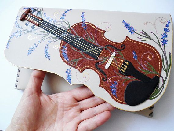 Violin leather bagMusic giftMusic bagMusic lovers