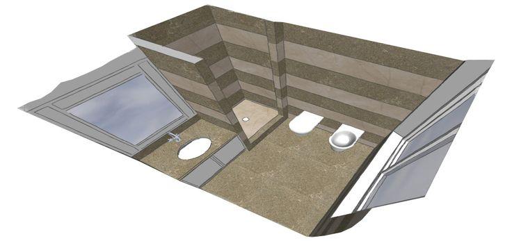 0007 progetto bagno doccia in pietra fossil green e adria, design by blancomarmo.it
