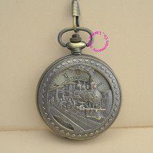 wholesale buyer price good quality vintage retro new antique bronze men train roman dial mechanical pocket watch hour with chain