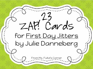 Classroom Freebies Too: Game Cards for First Day Jitters