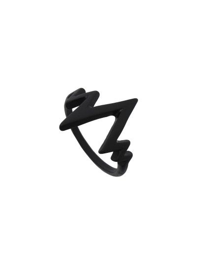 Anillo forma electrocardiograma - negro