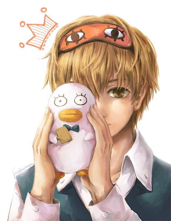 Aaawwhh, I love this. Sougo with a tiny Elizabeth doll. Too cute. 銀魂 Gintama