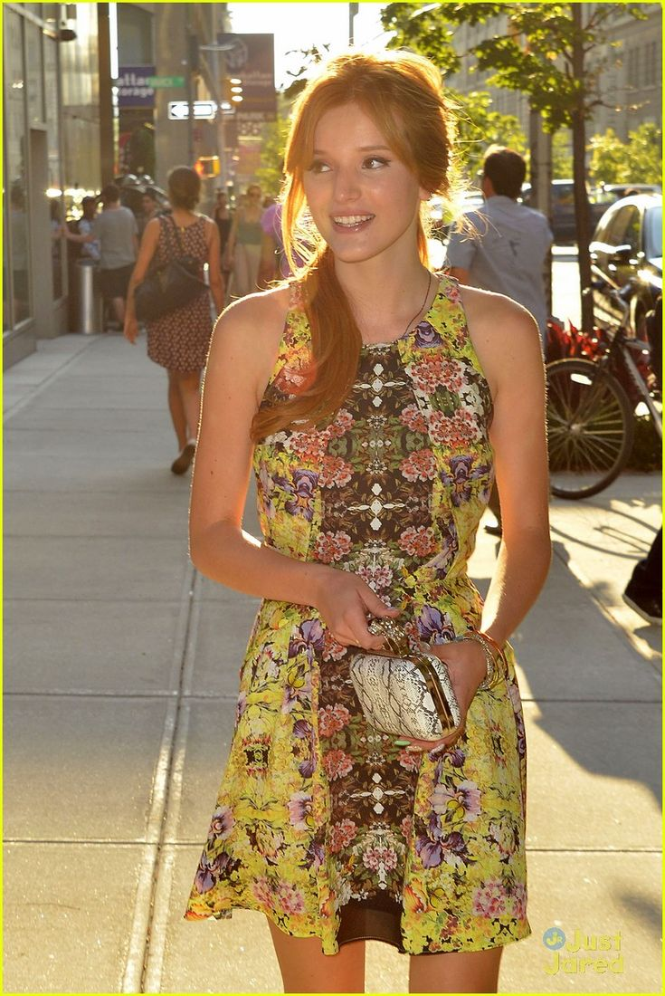 It up bella thorne sports a grown up look in elegant peplum dress - Bella Thorne Fashion Video 05