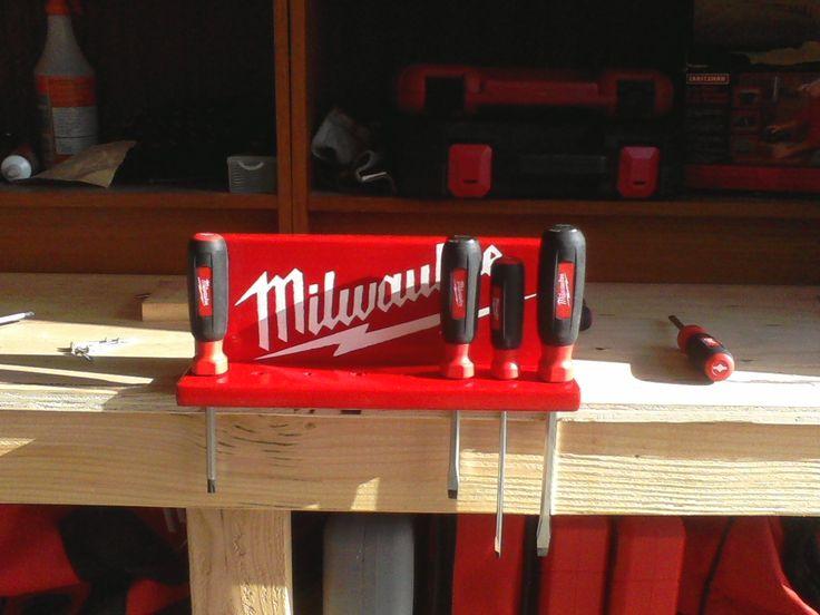 Homemade screwdriver holder | Milwaukee tools | Pinterest | Milwaukee tools and Tool storage