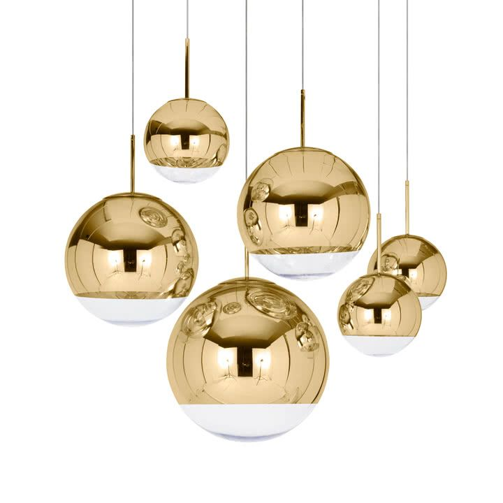 Tom Dixon Mini Mirror Ball Gold Pendant Lamp O 25 Cm Spiegelkugel Globe Pendelleuchte Pendelleuchte