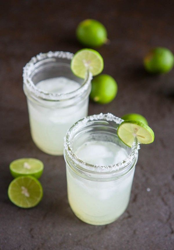 Key Lime Margaritas by EclecticRecipes.com #recipe