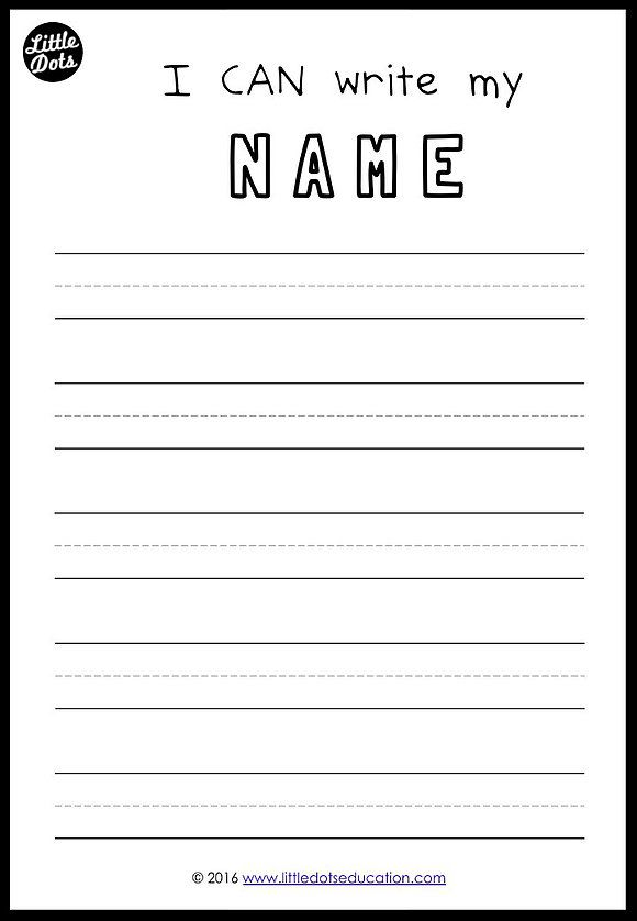My Special Name: Literacy Activities and Printables ...