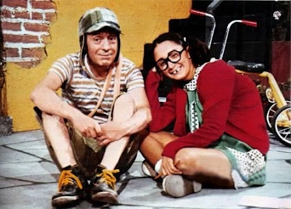 "Chespirito as ""El Chavo Del Ocho"" y ""La Chilindrina"""