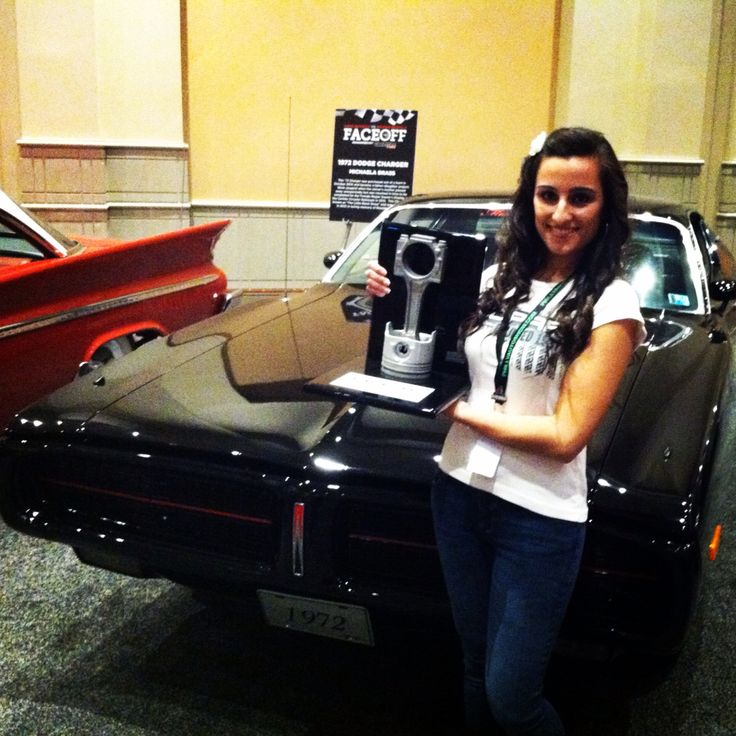 Miss Mopar helps Team Mooar beat Team Ford at the 2014 Philly Face Off powered by Carlisle Events and the Philly Auto Show.