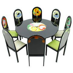 Dining Suite with Eight Chairs by Bjorn Wiinblad for Rosenthal, 1976
