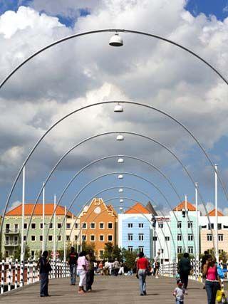Queen Emma Bridge, Willemstad, Curacao, Netherlands Antilles, West Indies, Caribbean
