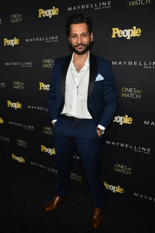 "Love this elegant class blue suit Cas Anvar attend People's ""Ones to Watch"" event 2016."