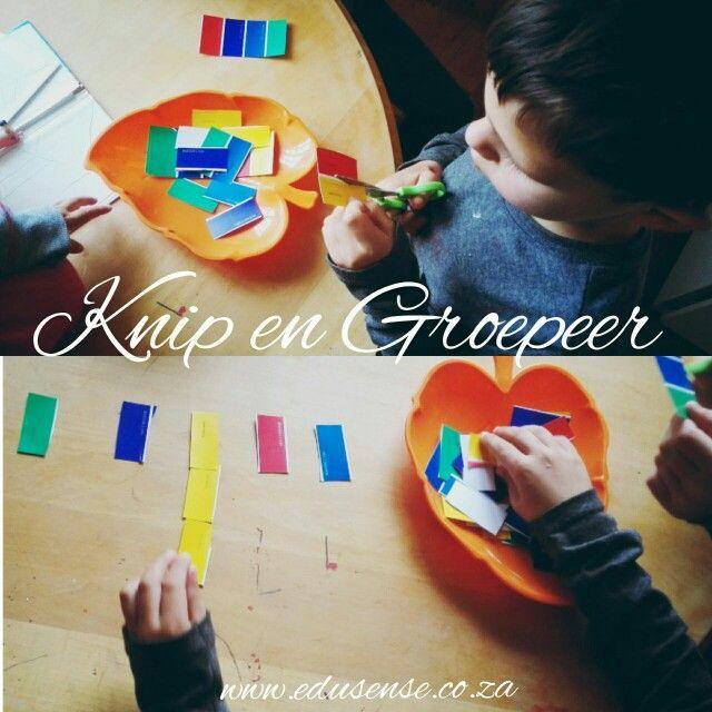 Knip kleure op kleurkaarte uit rn groepeer kleurr bymekaar