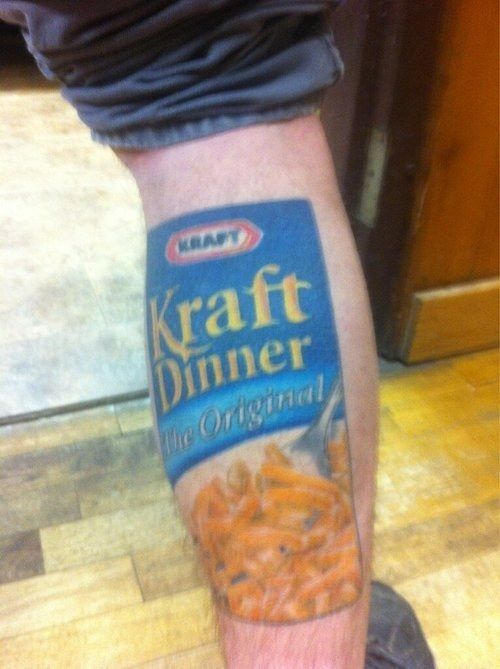 Mac 'n' cheese leg: