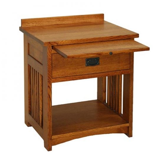 Tree crowns craftsman bedside table shaker furniture for Craftsman style desk plans