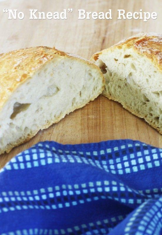 """{RECIPE} """"No Knead"""" Bread"""