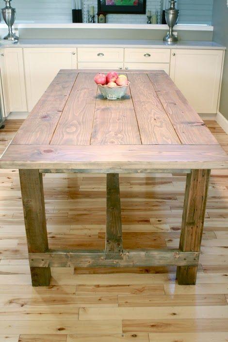 Sånt här matbord fast vitmålat