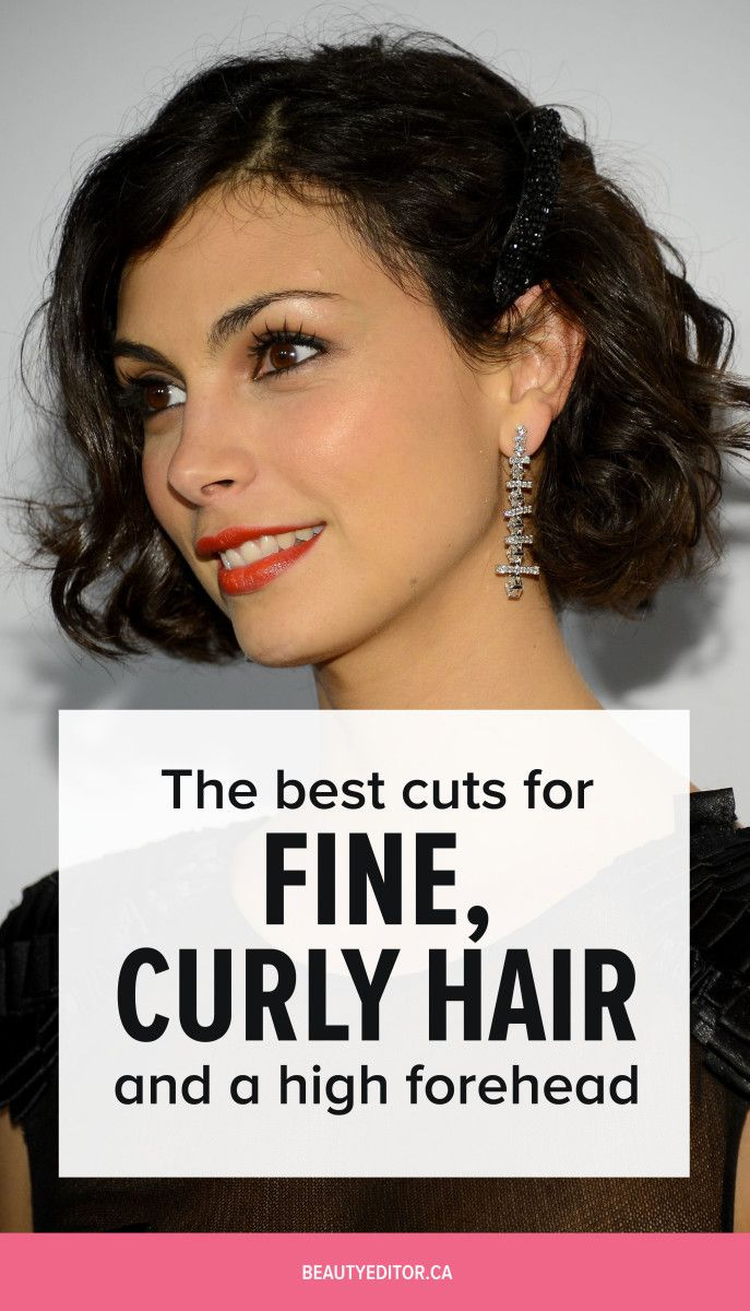 The best cuts for fine, curly hair and a high forehead, according to celebrity hairstylist Bill Angst.
