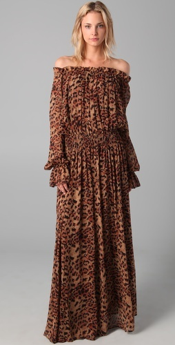 Rachel Zoe $495.00 Panther Print Maxi Dress what would this look like on me? DONT CARE, NEED IT