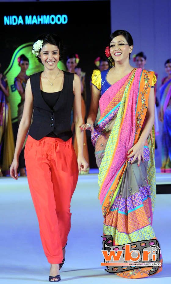 Raima Sen walking the ramp for Nida Mahmood - 8th Season of Blenders Pride Fashion Tour - Kolkata - Day 1 - Bengali Beauties Raima Sen and Debi Dutta Scorch the Ramp for Nida Mahmood & Raghabendra Rathore at Blenders Pride Fashion Tour