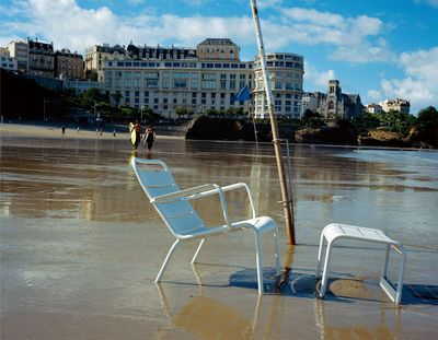 let's go to the beach with Luxembourg armchair by Fermob