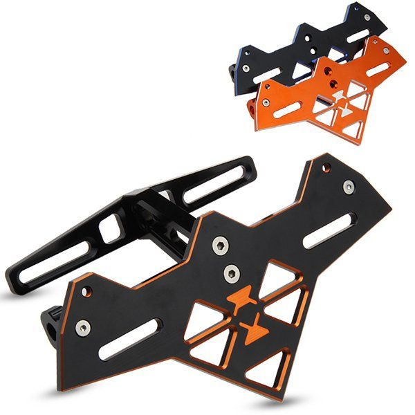 Cnc Decorative License Plate Frame T6 For Motorcycle Scooter