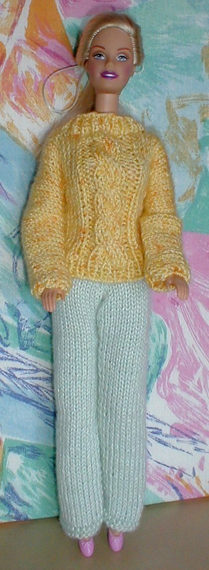 Knitting Pattern Barbie Jumper : The 242 best images about Barbie Knitting & Makes on Pinterest Free pat...