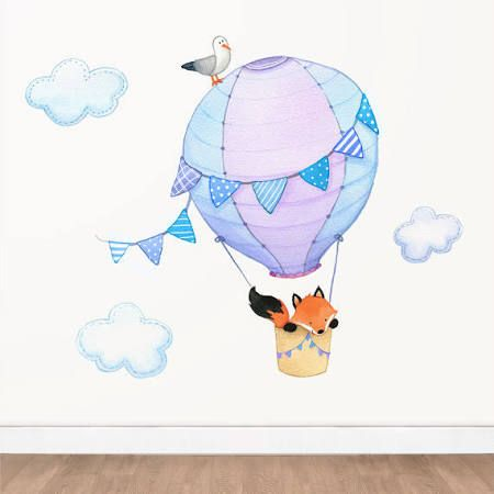 hot air balloon wall stickers - Google Search
