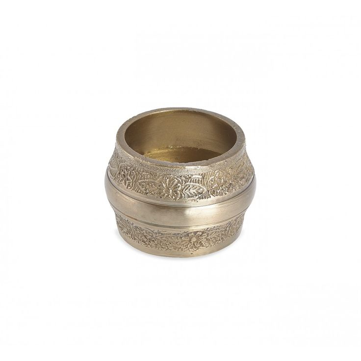 Hopton Napkin Ring. Antique brass with embossed pattern.