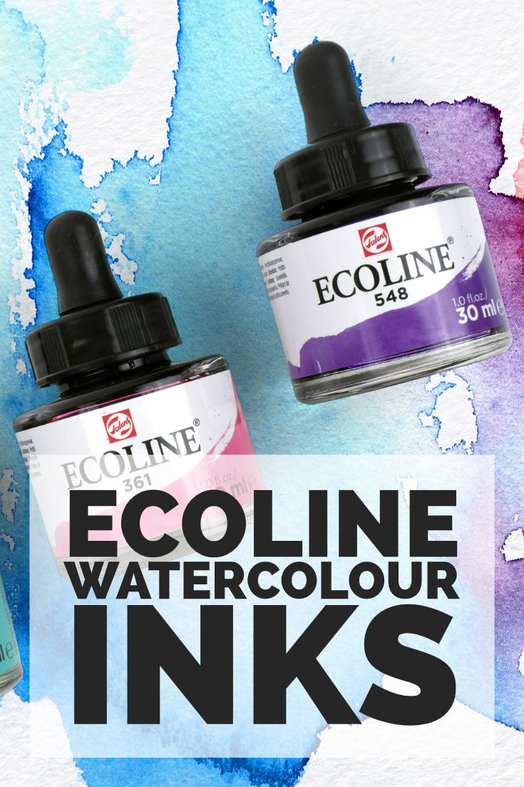 Ecoline Inks Are A Highly Fluid Watercolour Paint That Are Fully