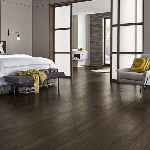 Java Scraped Oak Natural Laminate Floor With Wear And