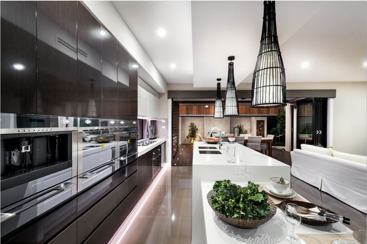 The Curzon by Mayfair Homes in Wright, ACT. Featuring Smeg CMSC45 Linear Coffee Machine, Smeg SCA712-3 Linear Thermoseal Oven and Smeg SCA45V2 Linear Multifunction Compact steam Oven. For more inspired ideas visit southerninnovations.com.au