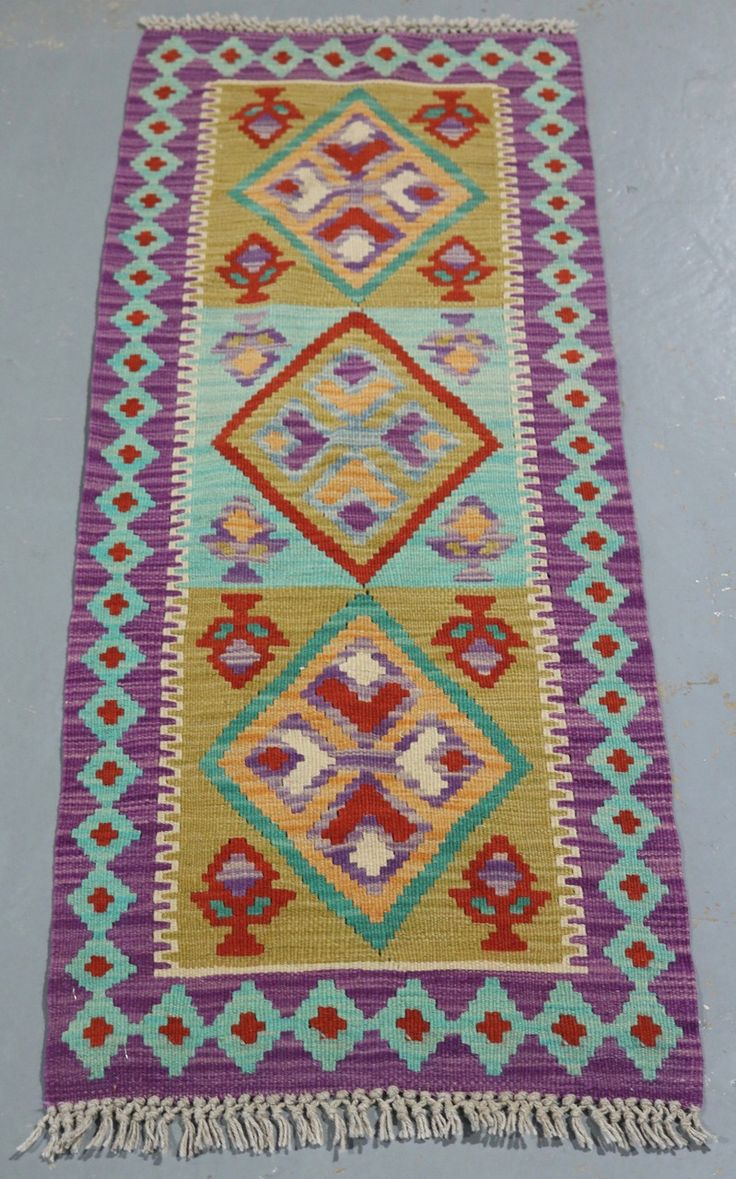 Vegetable Dye Kilim Runner (Ref 106988) 136x50cm - PersianRugs.com.au