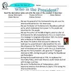Students match names of presidents (George Washington, Thomas Jefferson, James Madison, James Monroe, and Andrew Jackson) with descriptions of thei...