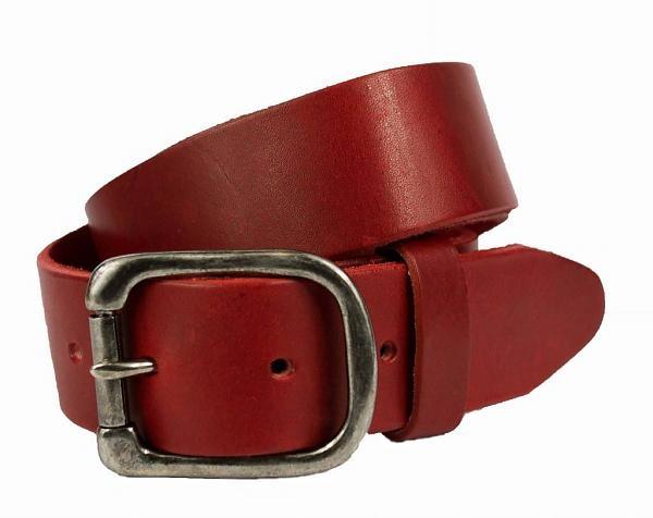 Petrol Riemen 40356 - Rode riem voorzien van een rolgesp