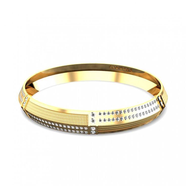 Yellow Gold 22K | Elegant Gold Kada | Candere.com