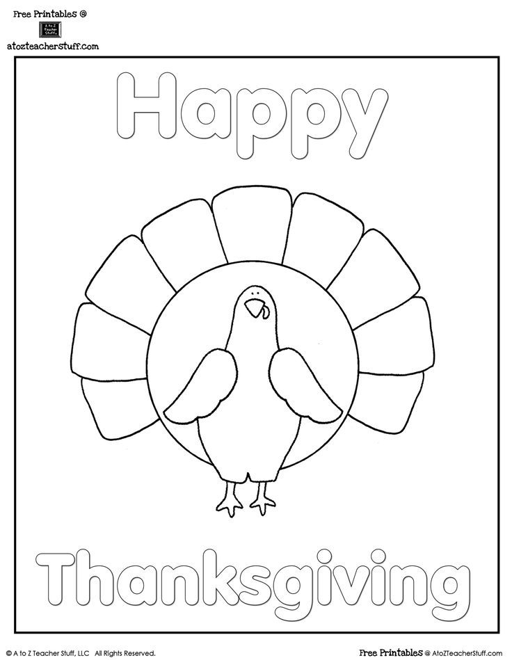 Engaging Lessons And Activities Free Thanksgiving Turkey Coloring Page