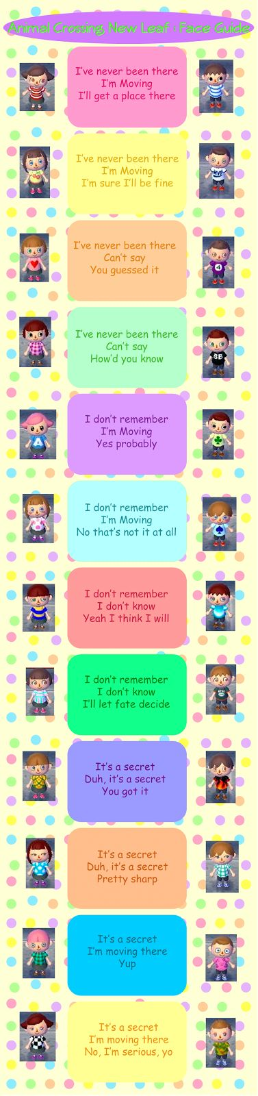 Animal Crossing New Leaf Face Guide by RobynisDreaming