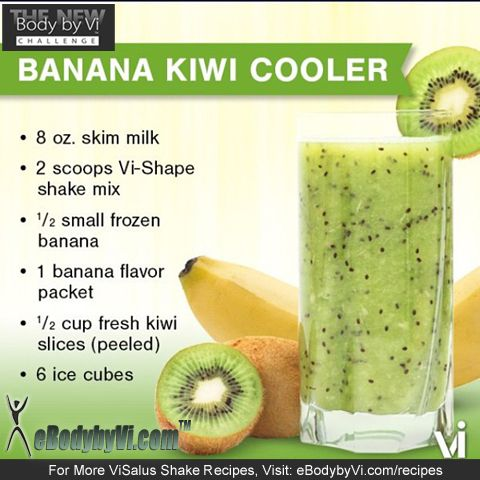 Do YOU Love Kiwi? Reduce Your Cholesterol with OUR Cool and Smooth Body by Vi Banana Kiwi Vi Shake Recipe