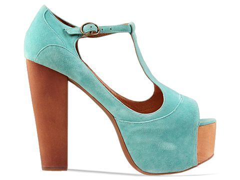 Jeffrey Campbell Foxy Wood in Teal Suede