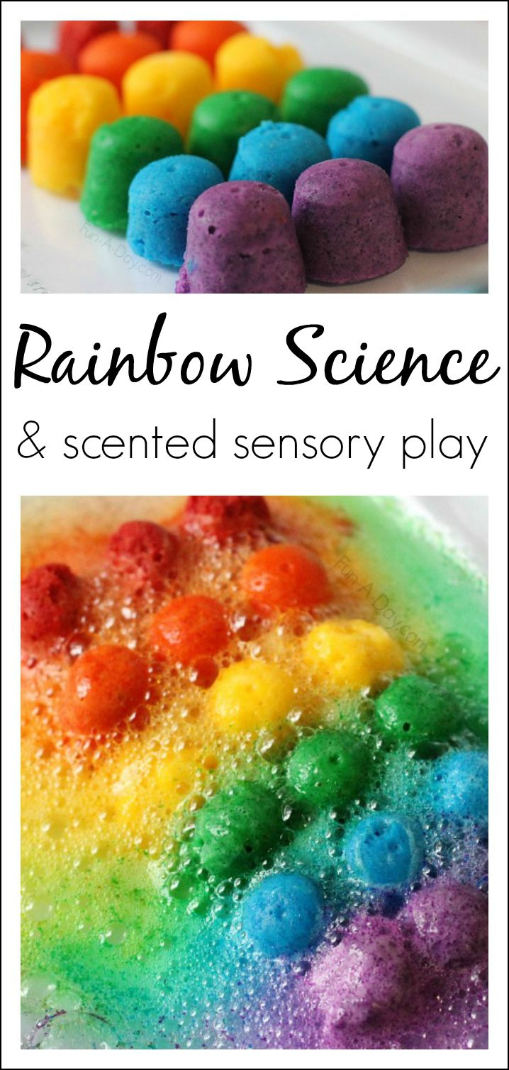 Colors preschool project - Scented Rainbow Science And Sensory Play